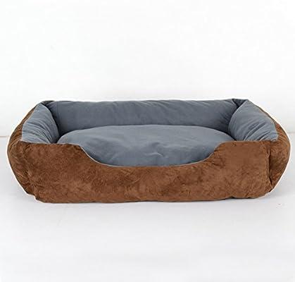 DSAQAO Samoyedo Perro Grande Cama, Lavable Perrera Interiores Camas del Animal doméstico, Suave Cuadrado Nido para Mascotas Colchoneta de Cesta-C ...
