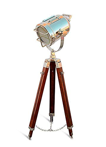 Designer Nautical Spotlight Collectable Searchlight Spot Light Studio Tripod Floor Lamp