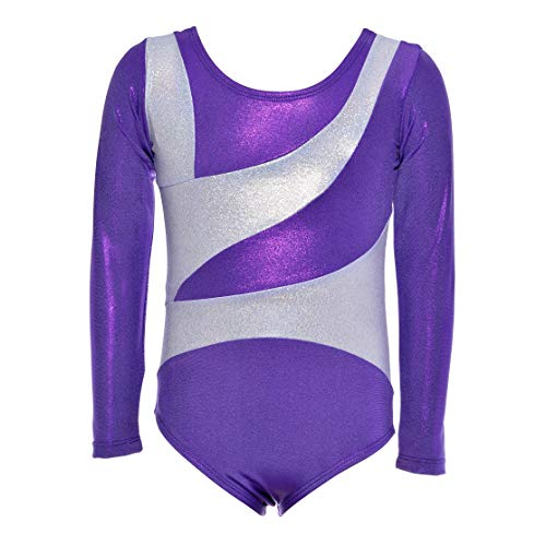 Dancina Girls Gymnastics Long Sleeve Leotard Dancewear 10