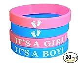 20 pcs wristband Baby Shower Favors - It is a Girl! / It's a Boy! (It's a Boy!)