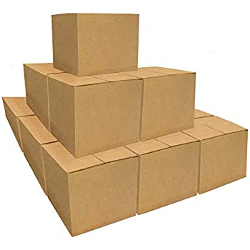 """Medium Size Corrugated Cardboard Boxes (20 Pack) 18"""" x 14"""" x 12"""" Heavy-Duty Box Ideal for Moving, Storing, Shipping and Packing"""