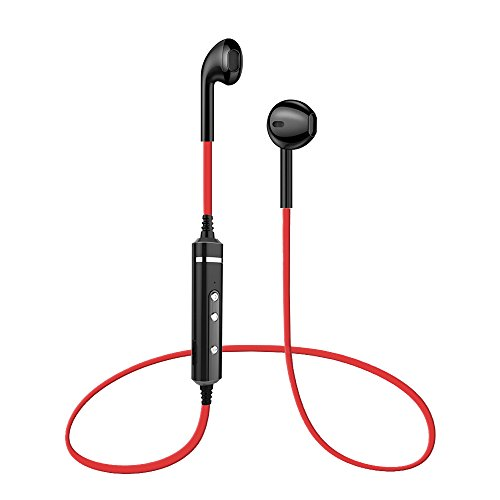Bluetooth Headphones, Nextamz V4.1 Wireless Earbuds Built in Mic, Snug and Comfortable Fit for Sports & Exercise (IPX5 Waterproof, Stereo, in-line Control, Noise Cancelling Microphone)