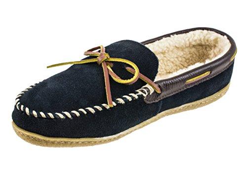 RALPH LAUREN Men's Polo Mason II Gen Suede Moccasin, Navy, 12 M (Ralph Lauren Suede Leather)