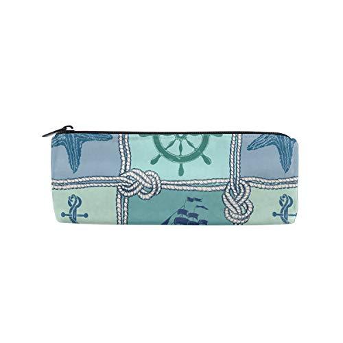 Ropes Starfish Sailing Ship Anchor Wheel Cylinder Women Cosmetic Bag Zipper Single Layer Travel Storage Makeup Bags Purse
