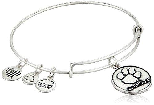 Alex and Ani Clemson University Logo Expandable Rafaelian Silver Bangle Bracelet