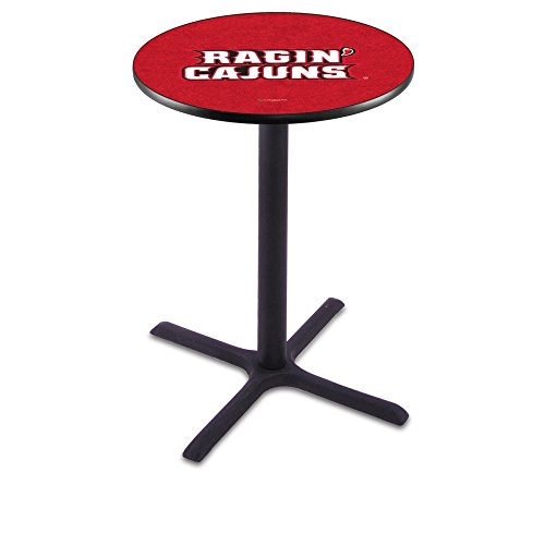 "Holland Bar Stool L211B University of Louisiana At Lafayette Officially Licensed Pub Table, 28"" x 42"", Black"