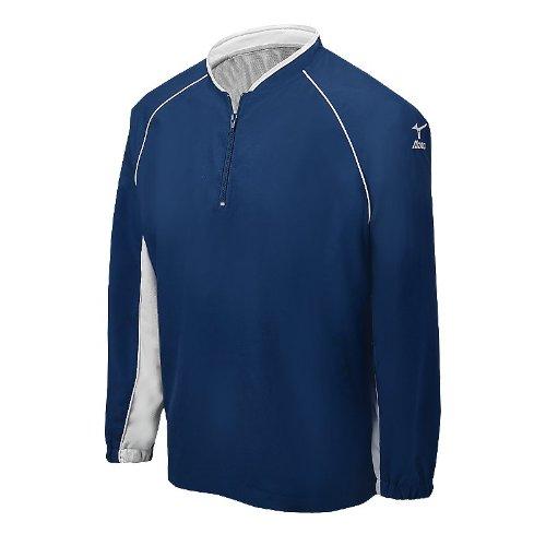 Mizuno Prestige G4 Long Sleeve Batting Jersey, Navy, Small