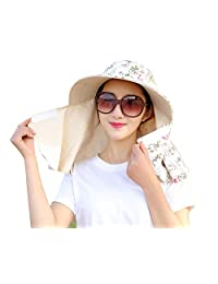 Women Sun Cap Flap Hats 360° Sun Shade Neck Face Protection Outdoor Sports Visor Hats Wide Brim Caps UV Protection Summer Sun Hats For Girl Lady