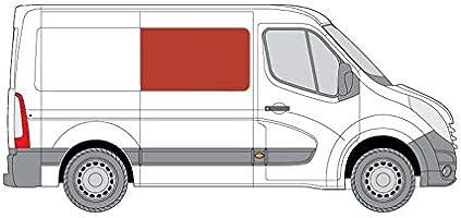 Mano derecha, tintado oscuro fijo ventana para puerta corredera panel OPP. Renault Master (2010 ON) [L2, L3, L4]: Amazon.es: Coche y moto