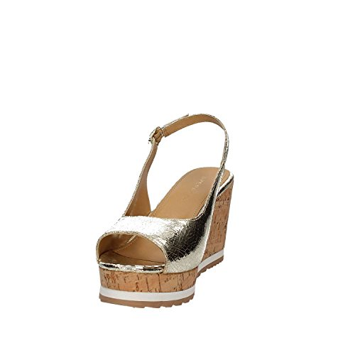 scarpe donna CRACKED zeppa Oro APEPAZZA LCK03 ORO LINDA sandali RpdwCp5q