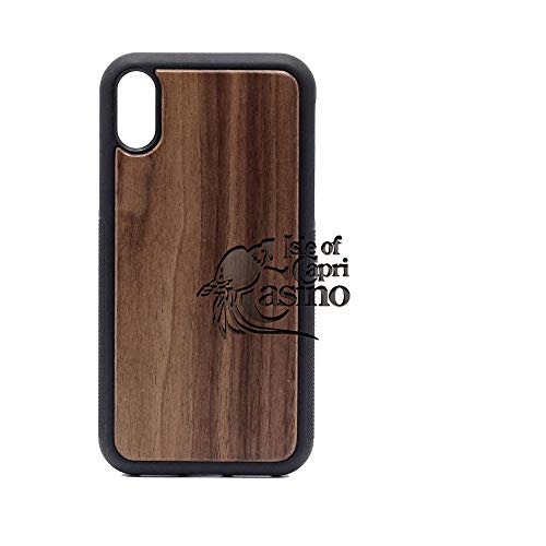 Logo ISLE of Capri Casino - iPhone XR Case - Walnut Premium Slim & Lightweight Traveler Wooden Protective Phone Case - Unique, Stylish & Eco-Friendly - Designed for iPhone XR