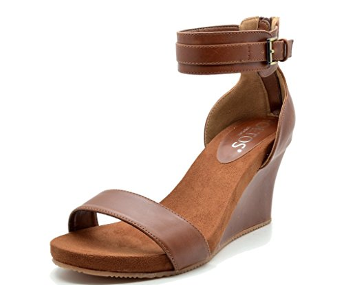 dd0889487914 TOETOS SOLSOFT 3 New Women s Casual One Band Ankle Strap Mid Heel Open Toe Platform  Wedges Sandals TAN SZ 11 - Buy Online in Oman.