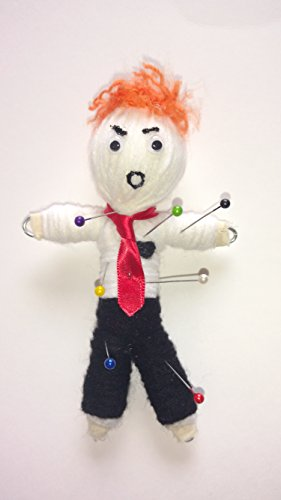 Donald Grump Voodoo Doll Donald Trump 7 pins and color guide included (Toy Voodoo Doll)