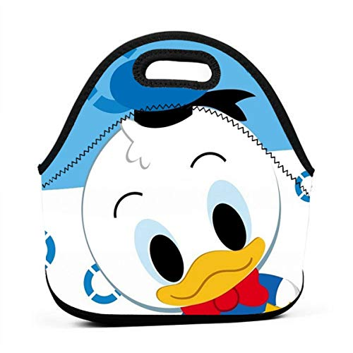 - YHHCZX Donald Duck Portable Lunch Bag Carry Case Tote with Zipper Strap Box Cooler Container Bags Picnic Outdoor Travel Handbag Pouch for Women Men Kids Girls