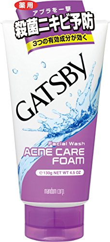 GATZBY Mens Facial Wash Triple care acne form - 130g by GATSBY