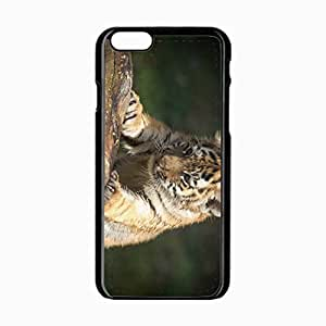 iPhone 6 Black Hardshell Case 4.7inch tiger muzzle eye predator climbing Desin Images Protector Back Cover
