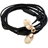 Wraps Wearable Braided Wristband Headphone Earbuds, Core Gold (WRCOG-V16M)