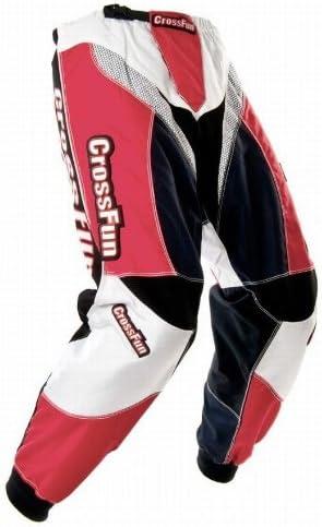 CrossFun Kinder Motocross Hose rot weis schwarz