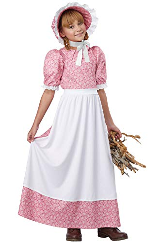 Early American Girl - Child Costume Pink/White