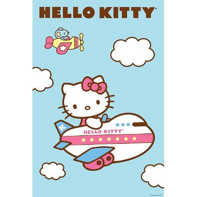 Hello Kitty Plane Mouse Kids Anime 24x36 POSTER Poster Print