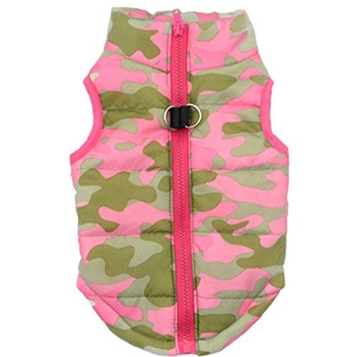 [Pet Vest,Elevin(TM)New Hot Fashion Male Female Pet Camouflage Cloth Dog Winter Warm Cloth Pet Jacket Vest Coat Costumes] (Cute Female Dog Costumes)