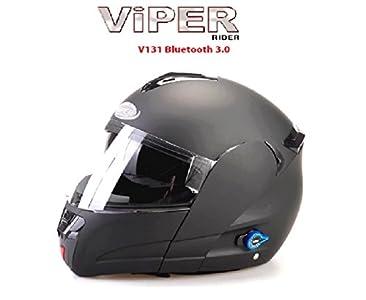 Viper Moto Casque Tooth V131 Modulaire Casque Scooter Casque Noir