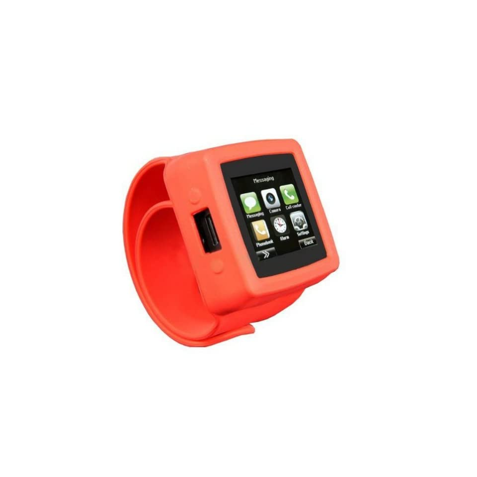 Red Watch Mq666 1.5 TFT Touch Screen Watch Phone with 3.2m Hd Camera for Iphone Bluetooth/fm Radio/ Playback/touch Screen