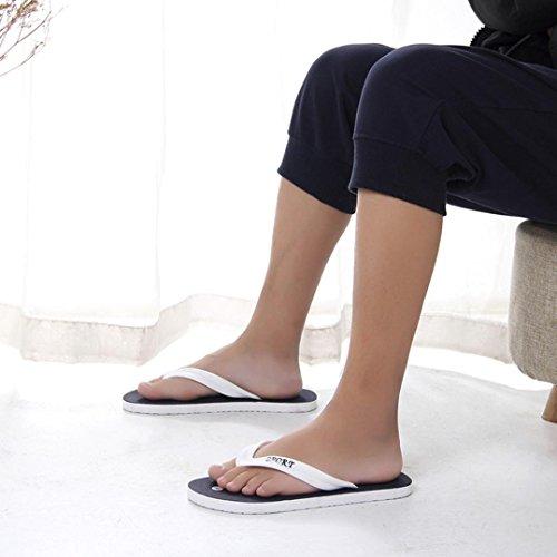 Hete Verkoop, Aimtoppy Mens Zomer Slippers Slippers Strand Sandalen Binnen En Buiten Vrijetijdsschoenen (us: 9, Blauw) Blauw