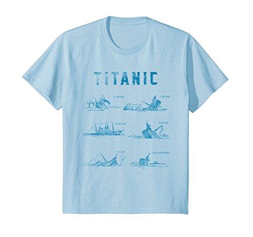 Kids Titanic April 1912 T Shirt Tee Ship Voyage Atlantic Ocean 12 Baby Blue