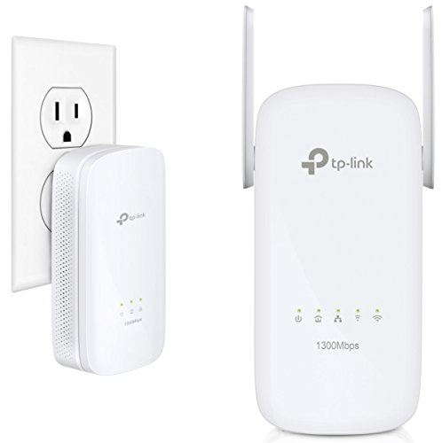TP-Link AV1300 Powerline WiFi Extender - AC1350 Dual Band WiFi, Gigabit Port, Noise Suppression Design, Plug&Play, Power Saving(TL-WPA8630 KIT) ()