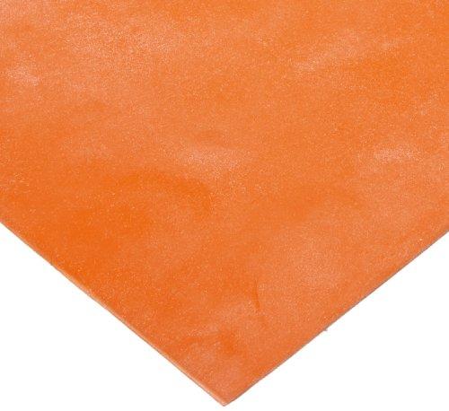 Silicone Sponge Rubber Sheet, Adhesive-Backed, Medium-Firm Density, Textured, AMS 3195, Orange, 0.250