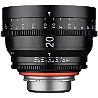 ROKINON 20-20mm f/1.9-1.9 Standard-Prime Fixed Prime 20mm T1.9 Professional Cine Wide Angle Lens for Sony E Mount (FE) Interchangeable Lens Cameras, Black (XN20-NEX)