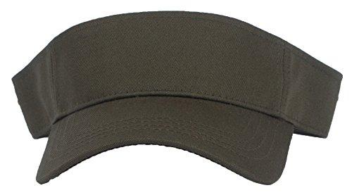 DRY77 Sports Tennis Golf Sun Visor Hats Adjustable Plain Bright Color Men Women, Hunter