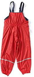 Playshoes Unisex Baby and Kids\' Fleece Lined Rain Pants 3-4 Years Red