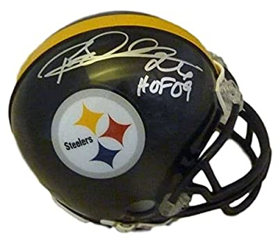Rod Woodson Autographed/Signed Pittsburgh Steelers Mini Helmet HOF JSA