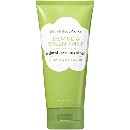 (Bath and Body Works Signature Collection Clay Body Scrub with Natural Essential Oils (Jasmine & Green Apple) )