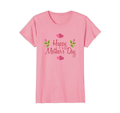 Womens Beautiful Happy Mothers Day T-Shirt Love Your Mom Large Pink