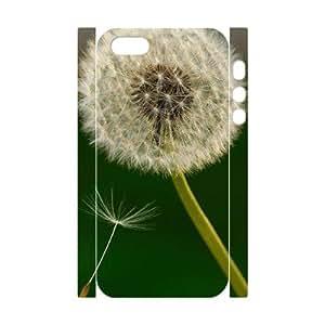 Unique Durable 3D Hard Plastic Case Cover for Iphone 5,5S - Fashion Dandelion CM03L6016