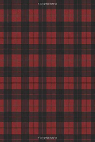 Journal: Red Plaid Check Pattern 6x9 Lined Journal Notebook 200 Pages ebook