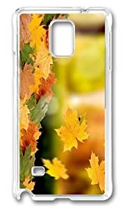 Adorable falling leaves autumn Hard Case Protective Shell Cell Phone For Case Iphone 5/5S Cover - PC Transparent