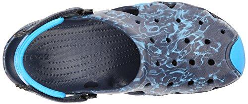 Crocs Mens Swiftwater Graphic Clog M Mule Marine / Ocean