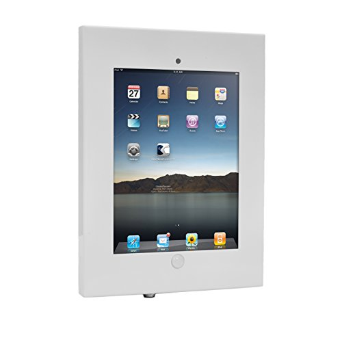 Ipad Lock - Anti-Theft Tablet Security Case Holder - 11 Inch Metal Heavy Duty Vesa Wall Mount Tablet Kiosk w/Lock and Key, Landscape/Portrait Mounting, for iPad 2, 3, 4, Air, Air 2 Tablets - Pyle PSPADLKW08W