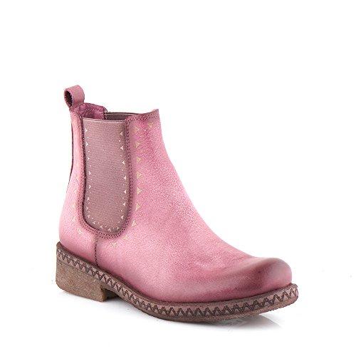 Felmini - Zapatos para Mujer - Enamorarse com Beta A233 - Botines Classic - Cuero Genuino - Morado Morado