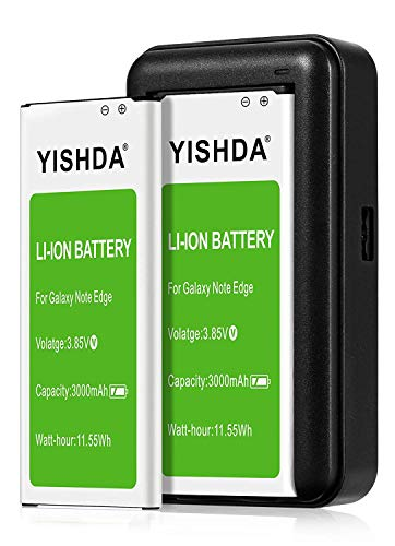 Note Edge Battery, YISHDA 2x3000mAh Replacement Batteries Compatible with Samsung Galaxy Note Edge with Note Edge Charger for N915 N915U N915A N915V N915P | Samsung Note Edge Battery Charger Kit