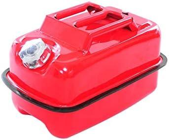 XuQinQin Tragbarer Kraftstofftank, verdickte kaltgewalzte Platte gespritzt rot 10L, 20L, 30L tragbarer horizontaler Speicherfahrzeug Universal-Ersatz-Autokraftstofftank Benzinbehälter (Color : 10L)