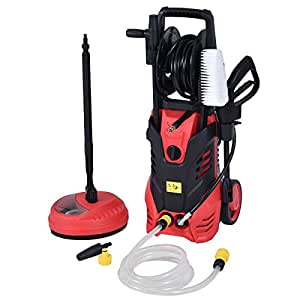 Goplus 3000PSI Electric High Pressure Washer Machine 2 GPM 2000W W/ Deck Patio Cleaner (Red)
