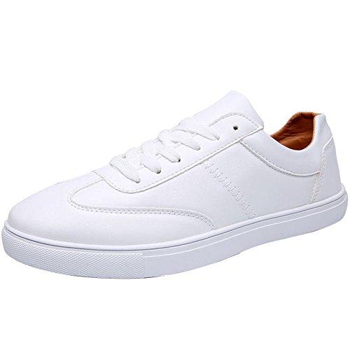 uomo da Size Scarpe basse YaNanHome coreano nuovo stile da scarpe di uomo traspirante bianche 43 scarpe Black Color selvagge scarpe uomo stile piatte Scarpe da Espadrillas Bianca estate in qwXtXFZ