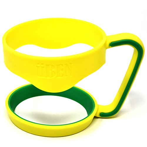 UBEN Smart Insulated Tumbler Handle for Yeti 30 Ounce Rtic, Sic Cup, Ozark Trail and More Tumbler Travel Mug - BPA Free, Yellow