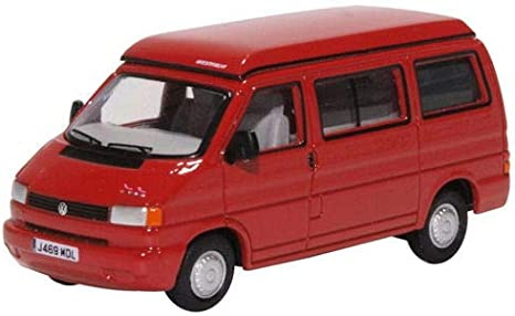 Oxford 76t4001 Vw T4 Westfalia Camper Rot Maßstab 1 76 Modellauto Spielzeug