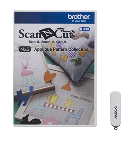Brother ScanNCut USB No. 2 Appliqué Pattern Collection (Scan N Cut Sticker)